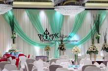 3m*6m Wedding Backdrop Wedding Decoration  Wedding Curtain Include The Pipe Stand For Wedding  Free Shipping