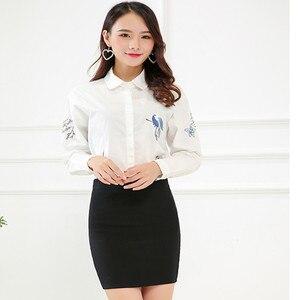 Image 4 - New Fashion Spring Office  Basic Skirts  Pencil Skirt High Waist  Stretchy Skirts