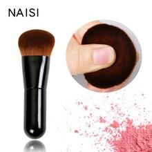 все цены на NAISI 2019 Makeup brushes Powder Concealer Powder Blush Liquid Foundation Face Make up Brush Tools Professional Beauty Cosmetics онлайн