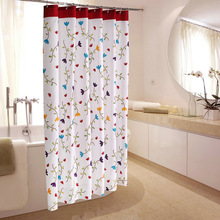 Flowers Shower Curtain Modern Waterproof Bath Curtains Nordic Bathroom For Bathtub Bathing Cover Extra Large Wide 12pcs Hooks