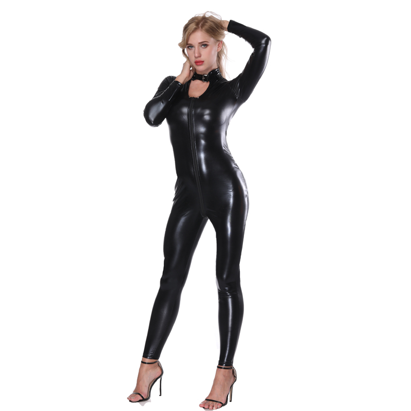 With Sexy girls black leather body suits phrase