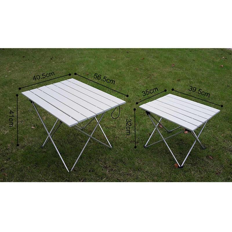 高強度アルミ合金ポータブル超軽量折りたたみキャンプテーブル折りたたみ屋外ディナーデスク家族パーティーピクニックバーベキュー