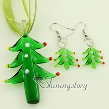 Christmas present venetian lampwork murano glass necklaces pendants and earrings jewelry sets colored cheap fashion jewellery