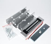 Serrure de porte en verre et bois, contrôle daccès, serrure magnétique électrique, avec support ZL, 180KG, 350lbs, 12V