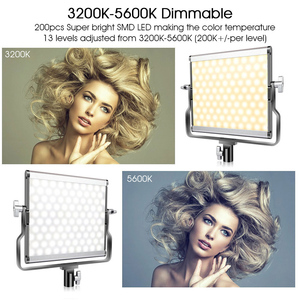 Image 5 - SAMTIAN photography light studio light L4500 2 set video light with stand tripods dimmable bi color 3200K 5500K panel light