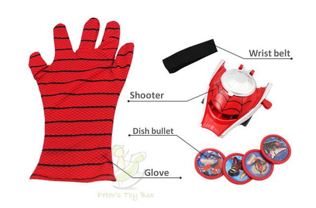 New Spiderman Glove Avengers Cosplay Glove Gun