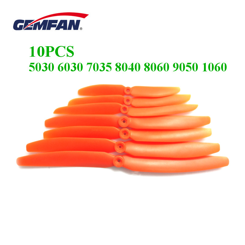 10PCS Gemfan 5030 6030 <font><b>7035</b></font> 8040 8060 9050 1060 Direct Drive <font><b>Propeller</b></font> For RC Models Airplane Fix wing Aircraft image