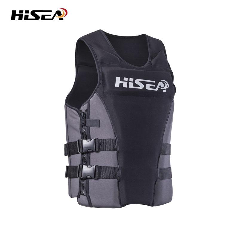 HISEA Men Women Professional Life Jacket Neoprene Rescue Fishing Adult Kids Life Vest for Swimming Drifting Surfing S