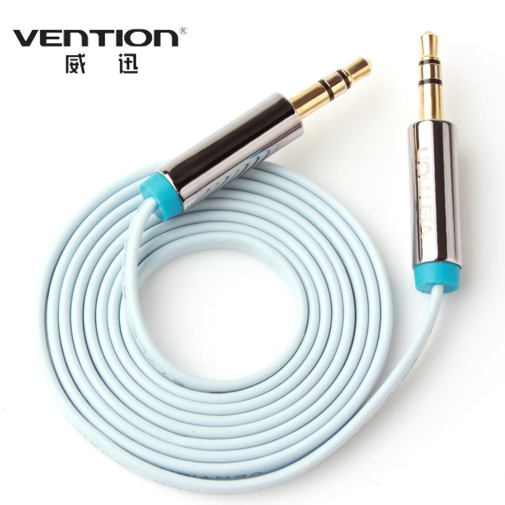2 шт.! Vention 1 м плоский стерео аудио кабель 3.5 мм разъем мужчинами Aux кабель для Динамик Автомобильные ПК Ipod сотовый телефон dvd-плеер