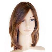 Casher Juif Perruque Européenne Vierge Cheveux Droite de Cheveux Humains Perruques Top En Soie Côté Frange Sheitel Perruque Livraison Gratuite CARA Cheveux