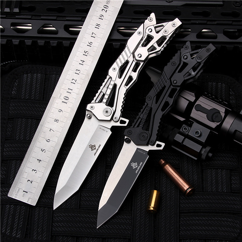 2018 New Free Shipping Outdoor Tactical Folding Knife Self-defense Wilderness Survival All-Steel For Sharp Hunting Knives Tools
