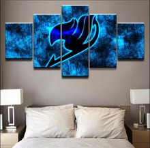 5 Pieces Home Print Poster Canvas Painting Wall Art Living Room Fairy Tail Anime Logo Modern HD Printed Artwork