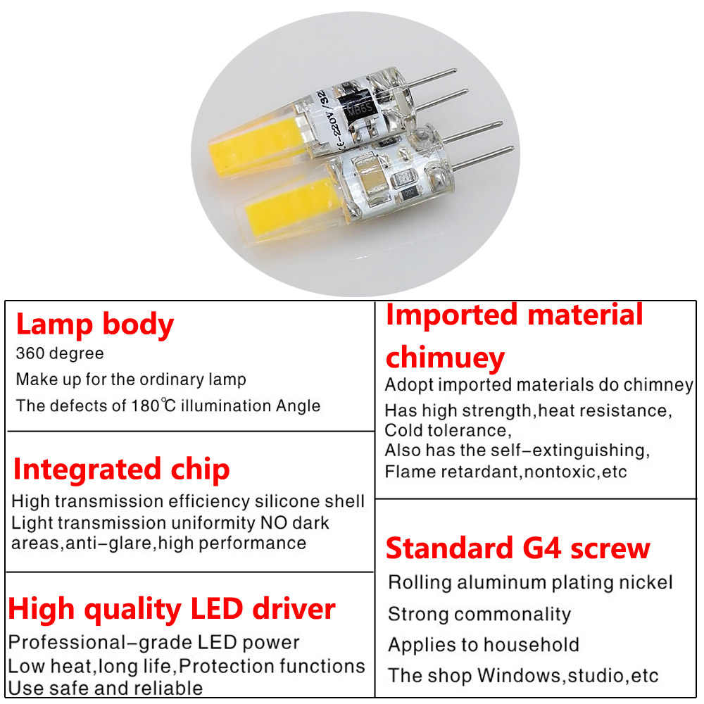 YB yiba мини G4 AC DC 12 V 6 W 9 W затемнения светодиодный Лампа COB SMD светодиодные осветительные приборы для замены галогеновой G4 светодиодный светильник для Люстра