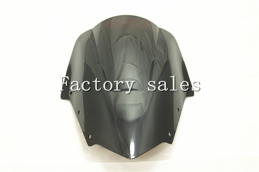 For Yamaha FZ1 Fazer FZ1S FZS1000S 2006-2011 2007 2008 2009 2010 2011 Black Windshield WindScreen Double Bubble FZS 1000 1000S