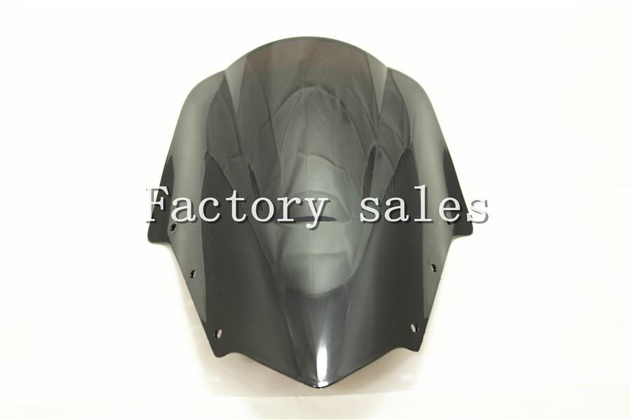 For Yamaha FZ1 Fazer FZ1S FZS1000S 2006-2011 2007 2008 2009 2010 2011 Black Windshield WindScreen Double Bubble FZS 1000 1000S
