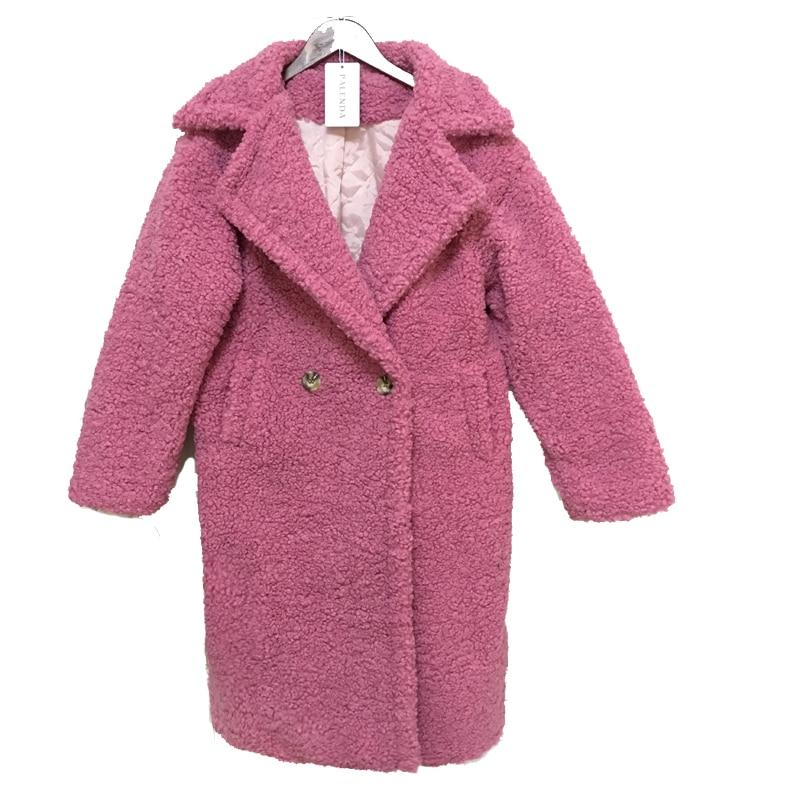 2018 nouveau en peluche manteau en fausse fourrure femmes hiver long manteau 4 couleur bateau dans 3 jours
