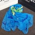 Новые Приходят Мода Весна-Лето Шелковый Шарф Женщины Полиэстер Шифон Beach Шаль Длинные Шарфы Цветочный Дизайн Печатных Шарф