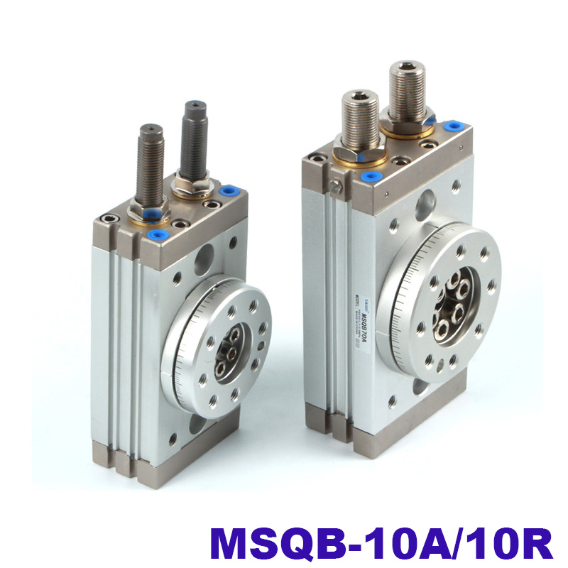 High quality double acting air table actuator pneumatic rotary cylinder smc type MSQB 10A MSQB 10R