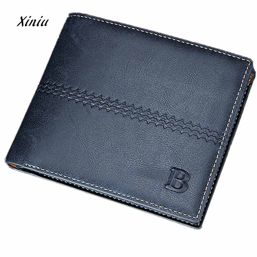 Gift Wallet For Credit Cards Cion Bags Men Bifold Business Leather Wallet ID Credit Card Holder Purse Pockets Coin Purse brown men s pu leather bifold wallet credit id card holder slim purse hasp purse business wallets short wallet for men or677228