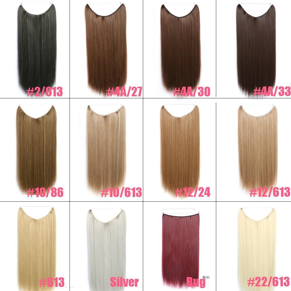 Invisible flip wire in apply full set Synthetic Straight Hair ...