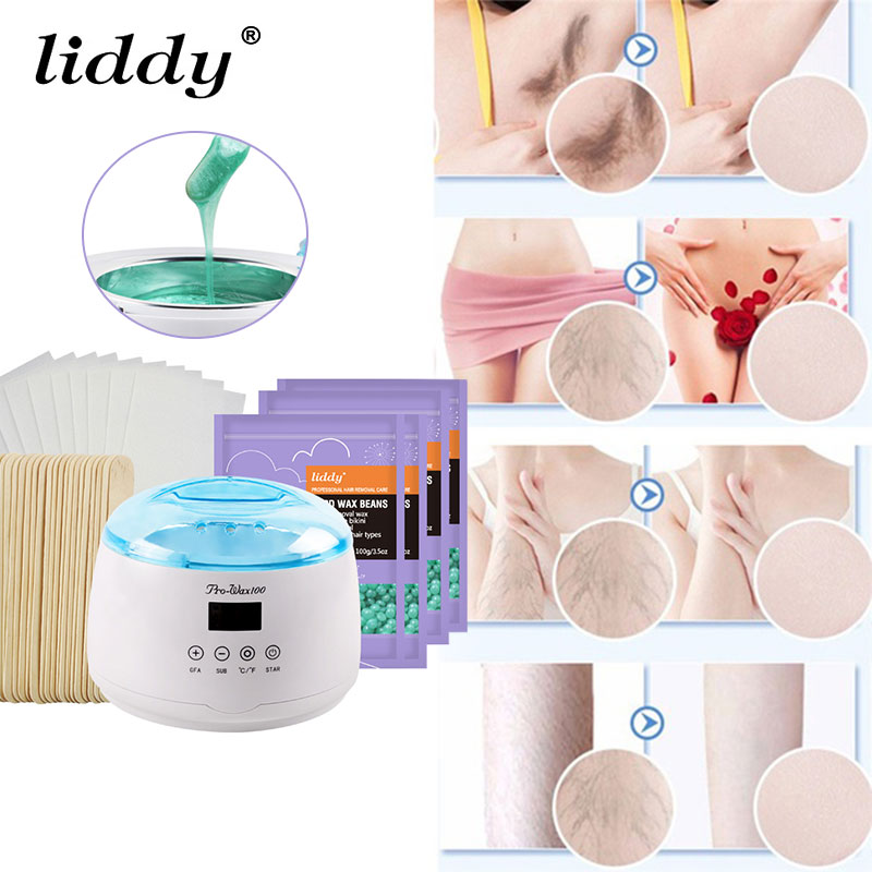 7 stks/set Wax Heater Set Ontharing Machine Wax Melt 110 V 120 V/220 240 V Facial Wenkbrauw Epilator Scheren Pijnloos Ontharingscrème