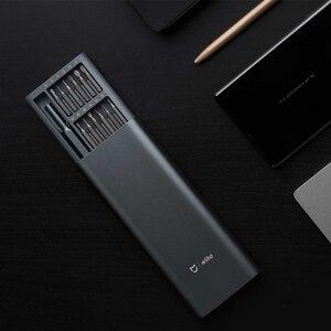 Image 3 - Xiaomi Kit de destornilladores Mijia Wiha, 24 brocas magnéticas de precisión, caja de aluminio, uso diario