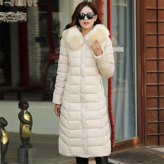 Большой Меховой Воротник Съемный Зимнее Пальто Женщин Утолщение Куртка С Капюшоном Плюс Размер 4XL 5XL 6XL Пальто Для женщин Куртка A1557