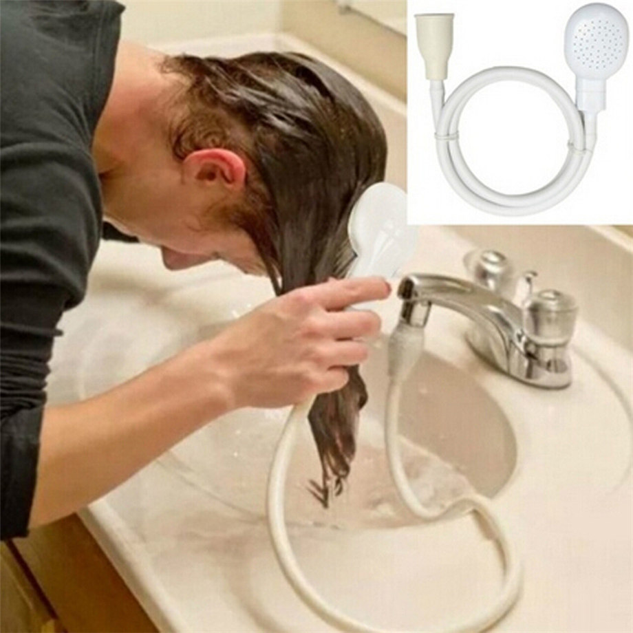 Single Wide Tap Bath Sink Shower Head Spray Hose Push On Mixer Hairdresser Pet Dropshipping #1101