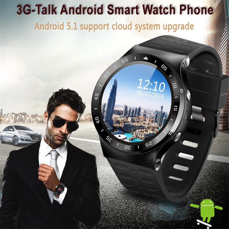 ZGPAX S99A MTK6580 Quad Core 3G Smart Watch Android 5.1 With 8GB ROOM 5.0 MP Camera GPS WiFi Bluetooth V4.0 Pedometer Heart Rate android 5 1 smartwatch x11 smart watch mtk6580 with pedometer camera 5 0m 3g wifi gps wifi positioning sos card movement watch
