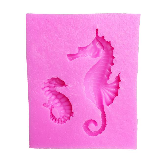 M1007 Cake Tools sea horse seahorse mould silicone mold Cake Fondant tool Decorating DIY Kitchen Baking Bakeware