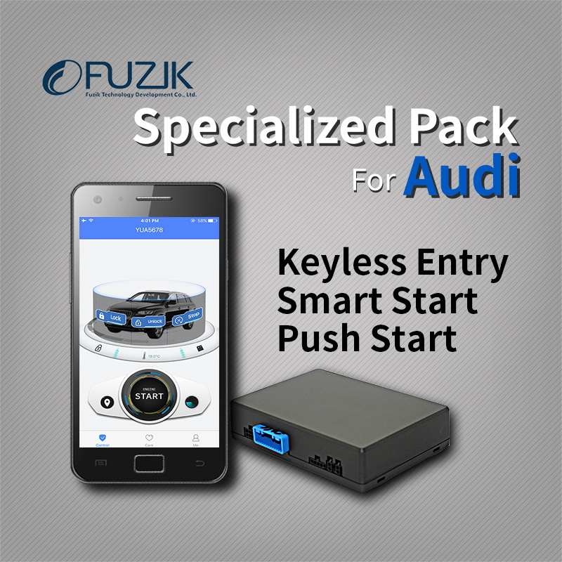 Fuzik remote smart start smart key keyless entry go push button start gps tracker tracking system for audi a4 a5 q5 a7 a6 a8 fuzik otu mini gps tracker vehicle tracking system for remote smart start with mizway app control for android ios smartphone