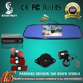 Автомобильная Камера Заднего Вида С 4.3 дюймов Цветной ЖК-Зеркало заднего вида Монитор с Видимым Оригинальные Плоские Датчики Парковки SW836BPV13