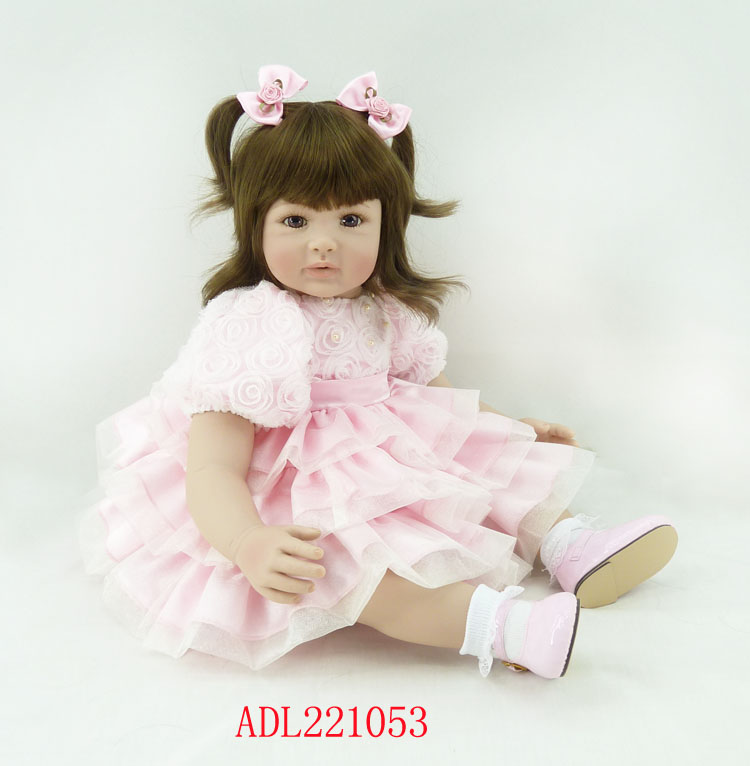 Fashion vinyl silicone reborn baby dolls accompany sleeping lifelike princess toddler doll kid christmas new year boutique gifts new 22 55cm silicone reborn baby dolls accompany sleeping princess girl doll toy handmade lifelike christmas gift brinquedos