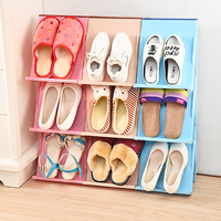 Creative layers of multifunctional stereo stitching shoe rack hanging shoe box home orgainzer