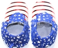 2017 New Genuine Leather Baby Moccasins Shoes Striped Starts Printed Baby Shoes Newborn prewalkers toddler Bebe Shoes