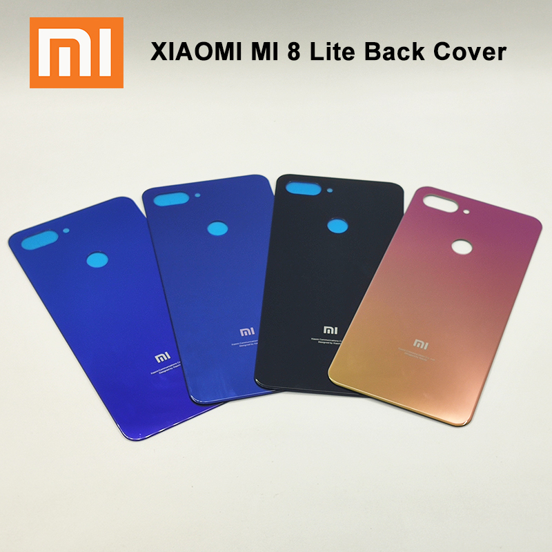 Xiaomi Cover Replacement Phone-Case Glass Back-Battery Mi8-Lite Original for Door Rear