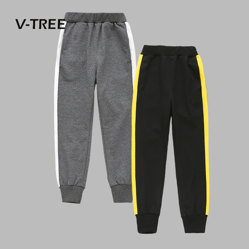 V-TREE Spring Autumn Pants For Boys Cotton Joggers Teenagers School Boys Trousers 4-12 Years Kids Boys Sports Clothing цена 2017