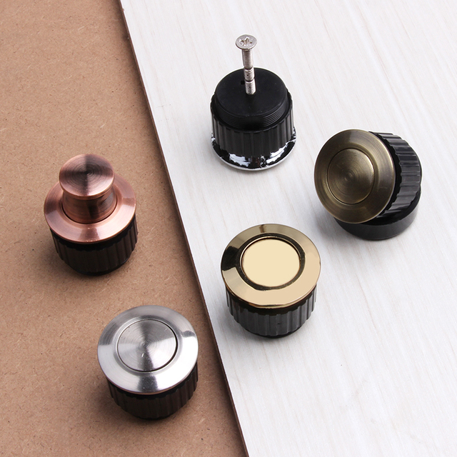 Perfect Modernized Concealed Door Handles Zinc Alloy Knob Invisible Embedded Modern  Simple Cabinet Drawer Cupboard Pulls Knobs