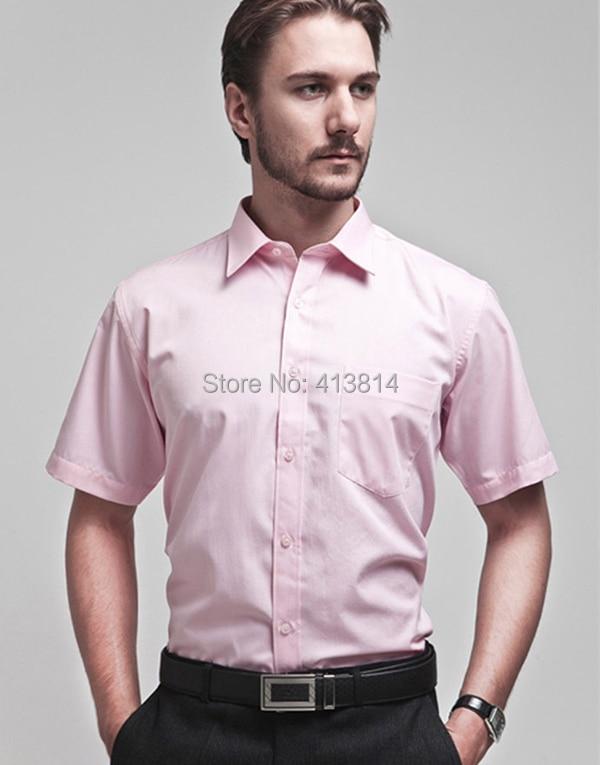 Aliexpress.com : Buy New Fashion Pink Men's Short Sleeve Dress ...