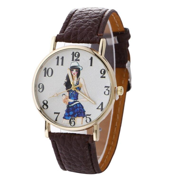 Fashion Casual Womens Quartz Wristwatch Leather Womens Bracelet Watches Lovers Dress Watch Reloj Mujer Creative Gift Grils