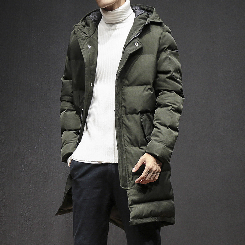 Warm Outwear Winter Jacket Men Korean Slim Fit Windproof Hood Men Jacket Warm Men Parkas Thicken Casual Padded Coat Male 3XL-M women lady thicken warm winter coat hood parka overcoat long outwear jacket