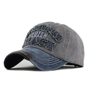 [FLB] حار ريترو غسلها قبعة بيسبول مزودة قبعة snapback قبعة للرجال العظام النساء gorras عارضة إلكتروني casquette قبعة سوداء F122 1