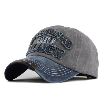[FLB] Hot Retro Washed Baseball Cap Fitted Cap Snapback Hat For Men Bone Women Gorras Casual Casquette Letter Black Cap F122 1