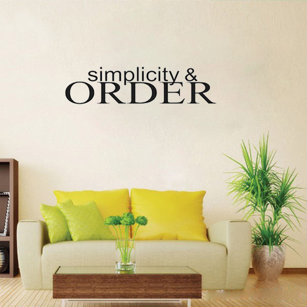 Simplicity Order Wall Decals Vinyl Stickers Home Decor Living Room Decorative Sticker Bedroom Wallpaper Quote