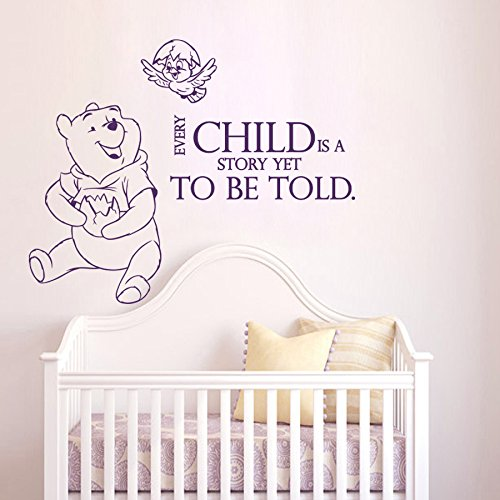 Wall Decals Quotes Winnie The Pooh Quote Vinyl Sticker Nursery Room Bedroom Decal Baby Boy