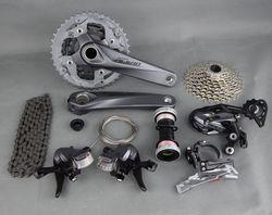 SHIMANO ALIVIO M4000 9 s 27 s Velocidade MTB Groupset Bicicleta Kit 4 Peças com Shifter Lever & Frente e desviador traseiro & Cable