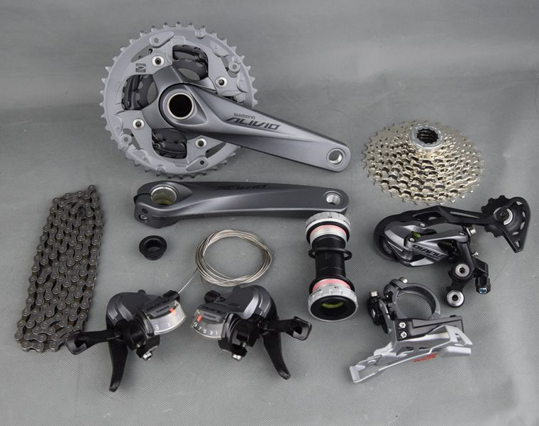 SHIMANO ALIVIO M4000 9S 27S Speed MTB Bicycle Groupset Kit 4 Parts with Shifter Lever & Front and Rear Derailleur & Cable