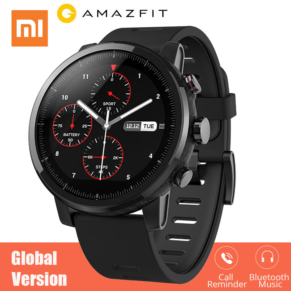 Xiaomi Amazfit Stratos 2 smart watch Pace 2 with GPS Heart Rate Monitor 50 meter Waterproof huami original smartwatch