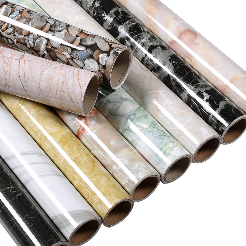 2019 New Marble Printing Wall Papers Self-adhensive Wall Cover Marble Stickers Waterproof Heat Resistant Kitchen Table Protector