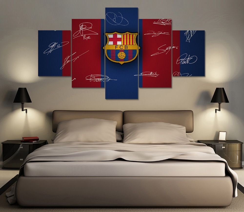 HD Print 5 pcs fc barcelona football canvas wall art painting Home Decor  wall art print. Popular Barcelona Wall Art Buy Cheap Barcelona Wall Art lots from
